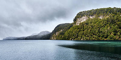 Photograph - Mountains And Lake On A Foggy Day by Eduardo Jose Accorinti