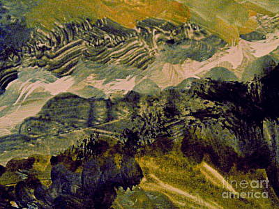 Digital Art - Mountains And Low Clouds by Nancy Kane Chapman