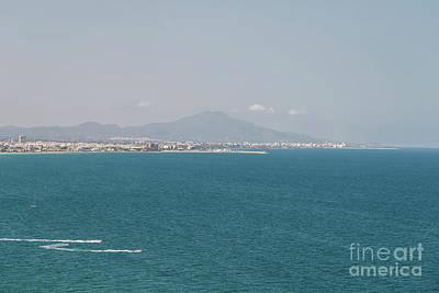 Mountains And Mediterranean Sea Aerial View In Spain Art Print
