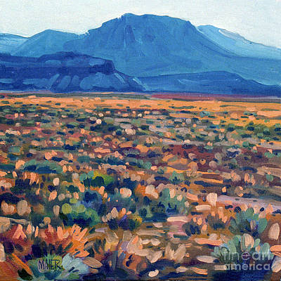 Bookshelf Painting - Mountains And Mesas by Donald Maier