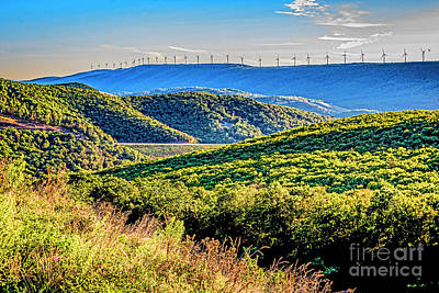 Photograph - Mountains And Windmills 1989t by Doug Berry