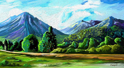 Painting - Mountains by Anthony Mwangi
