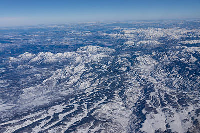 Photograph - Mountains As Far As The Eye Can See - Winter Flight Over The Rockies by Georgia Mizuleva