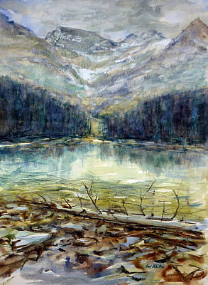 Painting - Mountains At Lake O'hara by Carl Whitten