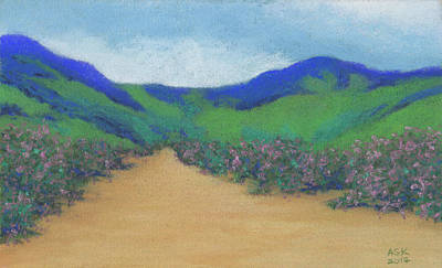 Pastel - Mountains At Moholoholo by Anne Katzeff