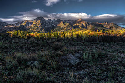 Photograph - Mountains At Sunrise - 0381 by Jerry Owens