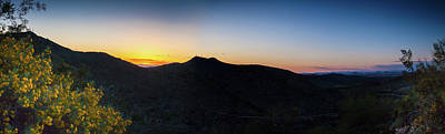 Photograph - Mountains At Sunset by Ed Cilley