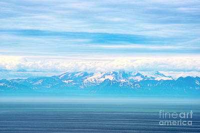 Photograph - Mountains Clouds And Water by David Arment