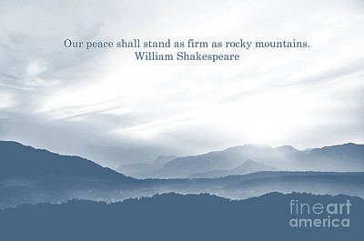 Photograph - Mountains Da With Quote by Charuhas Images