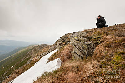 Mountains Expanse Taking Photo Art Print by Arletta Cwalina