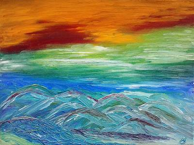 Painting - Mountains. Fantasy by Bennu