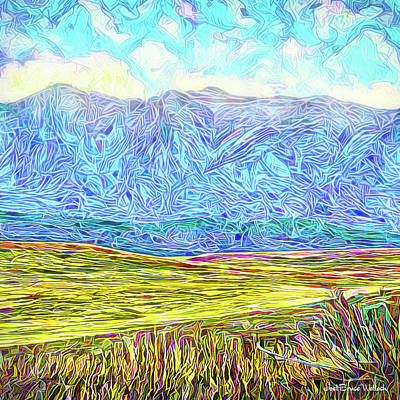 Digital Art - Mountains Fields Clouds - Boulder County Colorado by Joel Bruce Wallach