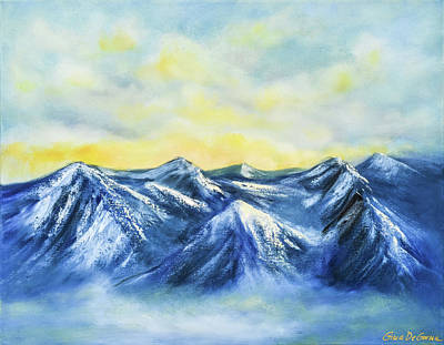 Painting - Mountains by Gina De Gorna