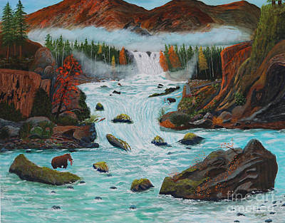 Mountains High Art Print by Myrna Walsh