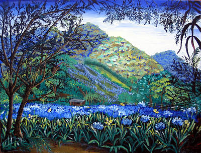 Painting - Mountains In Blue by Sarah Hornsby
