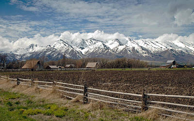 Photograph - Mountains In Logan Utah by James Steele