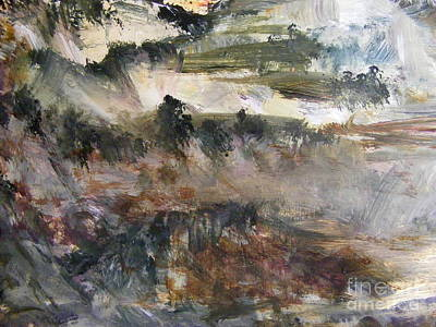 Painting - Mountains In Mist by Nancy Kane Chapman
