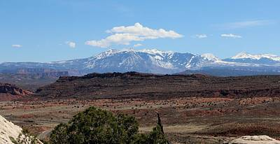 Photograph - Mountains In Moab - 8 by Christy Pooschke