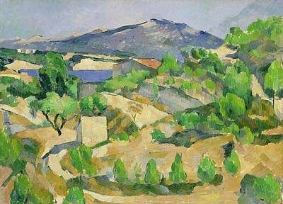 Midi Painting - Mountains In Provence by Paul Cezanne