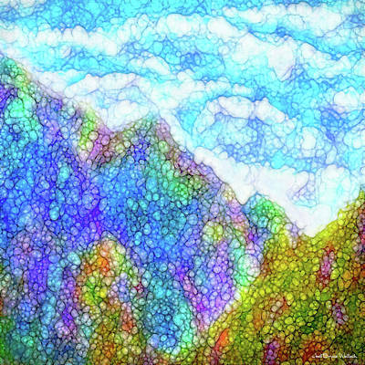Digital Art - Mountains In The Clouds by Joel Bruce Wallach