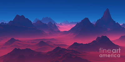 Keith Richards - Mountains in the red haze. by Alexander Grishin