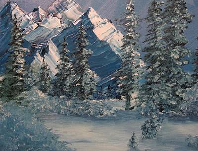 Painting - Mountains In Winter by David Bartsch