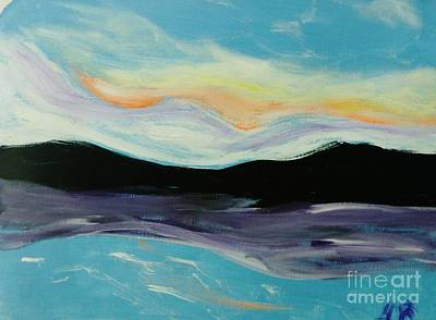 Painting - Mountains Clouds And Sea by Marie Bulger