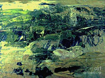 Digital Art - Mountains Meet The Shore by Nancy Kane Chapman