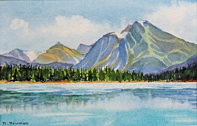 Mountains-near-jasper Art Print by Nancy Newman