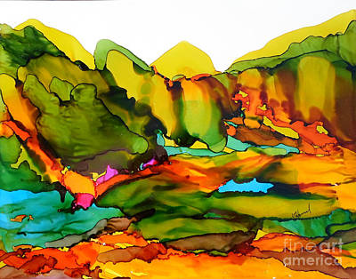 Mountains Of Color Art Print