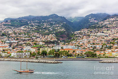 Arial View Photograph - Mountains Of Funchal In Madeira, Portugal by Liesl Walsh
