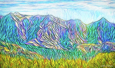 Digital Art - Mountains Of Illumination - Front Range Colorado by Joel Bruce Wallach