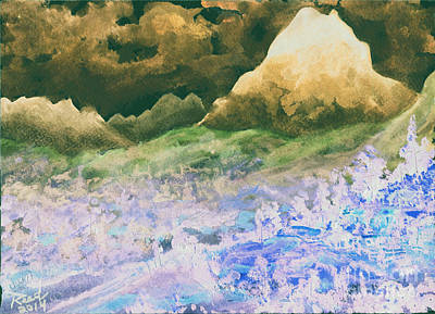 Painting - Mountains Of Pyrenees Inverted by Reed Novotny