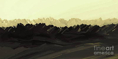 Digital Art - Mountains Of The Mohave by Tim Richards