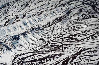 Photograph - Mountains Patterns. Aerial View by Jenny Rainbow