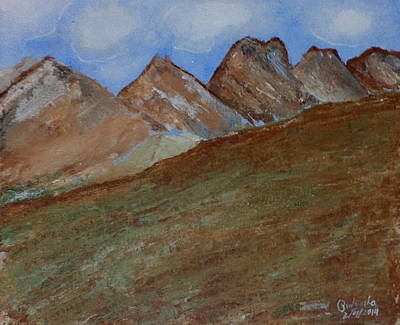 Painting - Mountains by Pratyasha Nithin