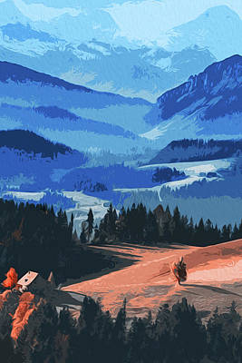 Painting - Mountains, Protectors Of The Earth by Andrea Mazzocchetti