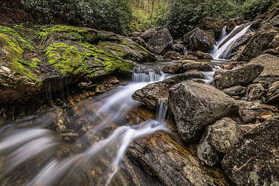 Photograph - Mountains To Sea Trail Falls by Donnie Whitaker