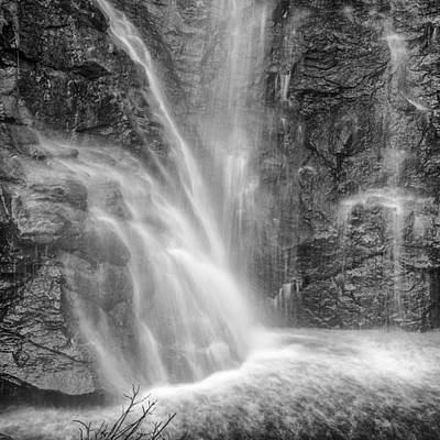 White And Black Waterfalls Photograph - Mountains Water by Guido Montanes Castillo