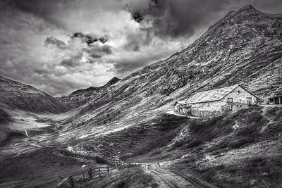 Photograph - Mountainscape With Shepherd's Hut by Roberto Pagani