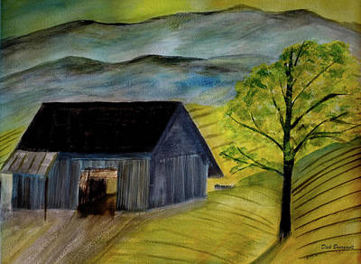 Painting - Mountainside Farm by Dick Bourgault