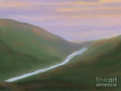 Painting - Mountainside Serenity by Roxy Riou