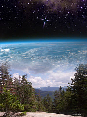 Mountaintop Space View Art Print by Patrick J Maloney
