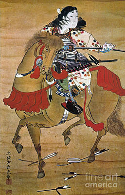 Photograph - Mounted Samurai by Granger