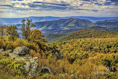 Photograph - Mountain View From Skyline Drive by Nick Zelinsky