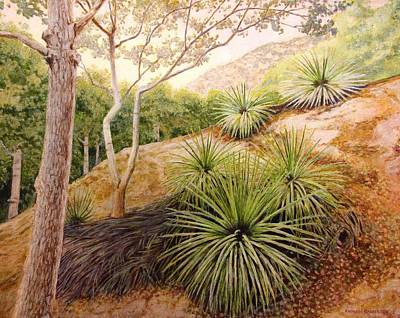 Painting - Mountian Yucca by Andrew Danielsen