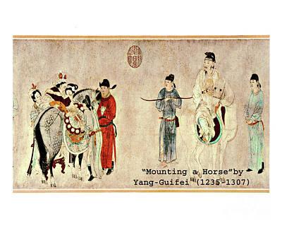 Photograph - Mounting A Horse  Ca. 1235-1307 by Merton Allen
