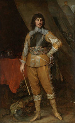 Man Painting - Mountjoy Blount, Earl Of Newport by Anthony van Dyck