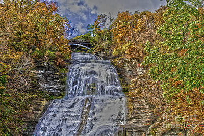 Photograph - Montour Waterfall  by William Norton