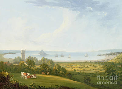 Mounts Bay From Ludgvan Art Print by William Brooks